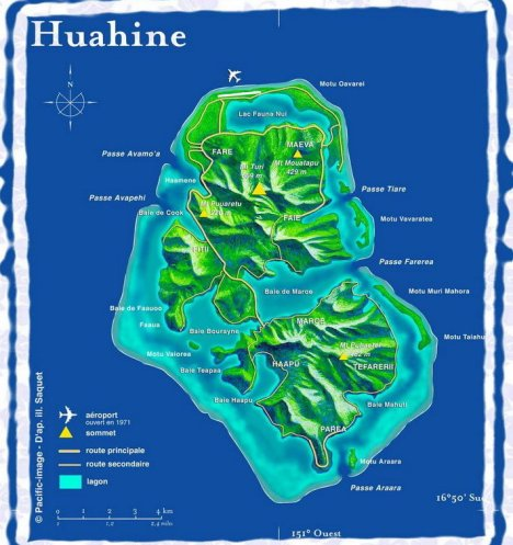 Ile de HUAHINE tourisme